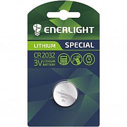 Батарейка ENERLIGHT LITHIUM CR 2032 солевые 1шт блистер