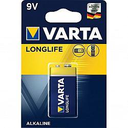 Батарейка VARTA LONGLIFE 6LR61 Alkaline(крона) щелочные 1шт блистер