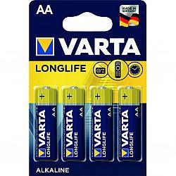 Батарейка VARTA LONGLIFE R6 Alkaline щелочные 4шт блистер