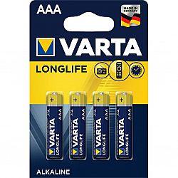 Батарейка VARTA LONGLIFE R3 Alkaline щелочные 4шт блистер