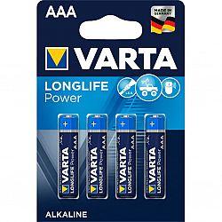 Батарейка VARTA HIGH ENERGY/LONGLIFE POWER R3 щелочные 4шт блистер
