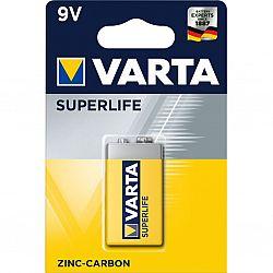 Батарейка VARTA 6F22(крона) солевые 1шт блистер