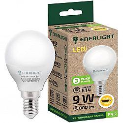 Лампа светодиодная ENERLIGHT Р45 9Вт 3000К Е14,гарантия 2 года