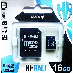 Карта памяти к телефону micro SDHC HI-RALI,16GB class 10(с адаптером). гарантия 1год