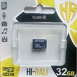 Карта памяти к телефону micro SDHC HI-RALI,32GB class 10(без адаптера). гарантия 1год