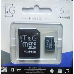 Карта памяти к телефону micro SDHC T&G,16GB class 10(с адаптером). гарантия 1год