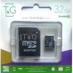 Карта памяти к телефону micro SDHC T&G,32GB class 10(с адаптером). гарантия 1год