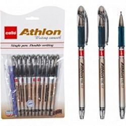 """Ручка масляная """"Athlon""""10+1 СELLO синяя"""