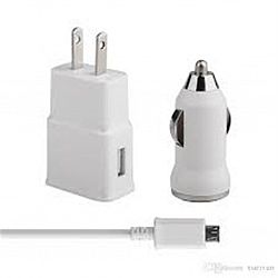 Зарядный блок к телефону 3 в 1(сетевая+авто+USB шнур)