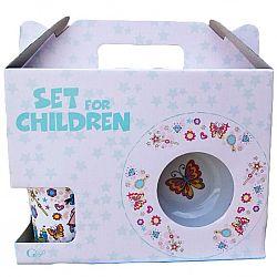 "Набор детский 3пр керамика(тарелка 200мм+салатник 250мл+чашка 270мл) ""Принцесса"""