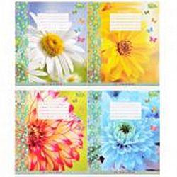 Тетр учен В5 48 лист.клетка офс Яркие цветы 3021 16шт