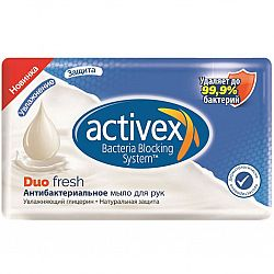 Мыло Activex duo антибактериальное fresh 120гр