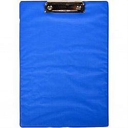 Планшет  с прижимом А4 ПВХ синий