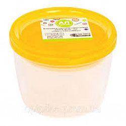Контейнер пищевой круглый TWIST 0,6л желтый