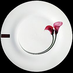 """Тарелка керамическая подставная обеденная 10,5"""" 26,7см """"Кала пурпурная"""""""