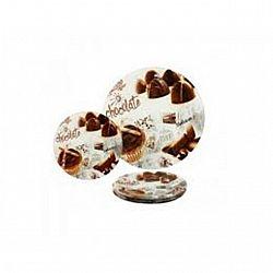 U 067  Набор для торта  стекло 7пр. Шоколад