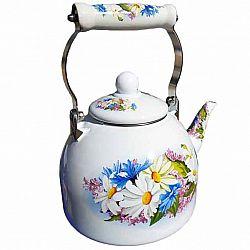 Чайник 2.0л эмалированный с керам.ручкой Zauberg 37/L Ромашка