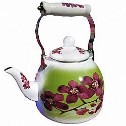 Чайник 2.0л эмалированный с керам.ручкой Zauberg 40/L Орхидея