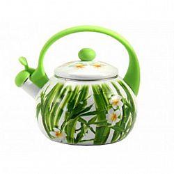 Чайник 2.2л эмалированный со свистком Zauberg Бамбук 44LG