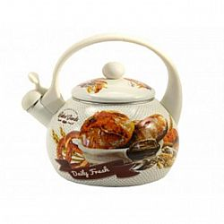 Чайник 2.2л эмалированный со свистком Zauberg  Хлеб  45LG