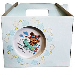 "Набор детский 3пр керамика(тарелка 200мм+салатник 250мл+чашка 270мл) ""Мишутка"""