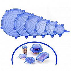 Набор крышек силиконовых прозрачных 6 в 1 в коробке