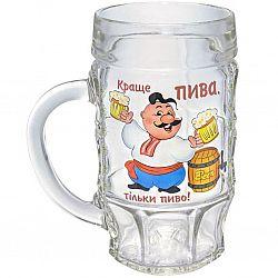 """Бокал д/пива """"Пинта"""" Пиво 500мл  деколь"""