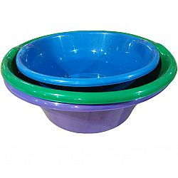 Миска пластик 18л цветная