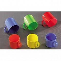 Кружка пластик 250гр цветная