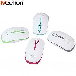 Компьютерная мышь на планшете беспроводная 4D+батарейка R 547 Mee Tion бело-серая