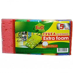 EkO plus Губка кухонная Пена плюс 5шт