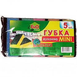 EkO plus Губка для мытья посуды Мини 5шт