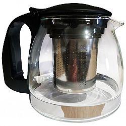 Чайник стеклянный с фильтром 700мл черный