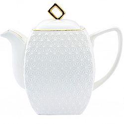 406618-А Чайник заварочный квадратный фарфор 900мл в упаковке Снежная королева