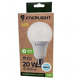 Лампа светодиодная ENERLIGHT A80 20Вт 6500К Е27,гарантия 2 года