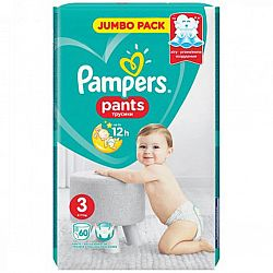 PAMPERS Дитячi Підгузники-трусики Pants Midi (6-11кг) Джамбо 60