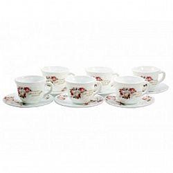 6916 Сервиз стеклокерамика чайный 12пр.В КОРОБКЕ 190мл  Чайная роза