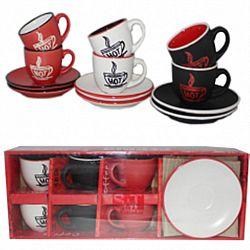 Сервиз кофейный 12пр(6 чашек 100мл+6 блюдец) Аромат кофе в коробке