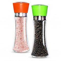 Мельница для соли и перца МИКС 200мл 19см стекло