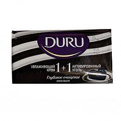 Мыло Duru 1+1 90гр. инд. активный уголь 90гр