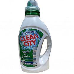 Жидкое средство для стирки Сlean City для белого белья 1,5л