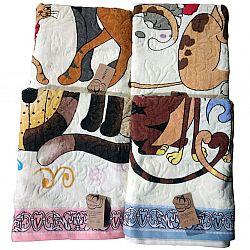 325-1 Полотенце БАНЯ детское коты микс цветов  1,35*0,60