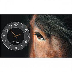 Часы настенные на холсте Кони 50*30см