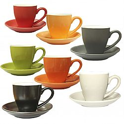 Чашка керамика с блюдцем(14см) цветная 180мл