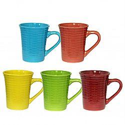 Чашка керамика цветная однотонная 400мл