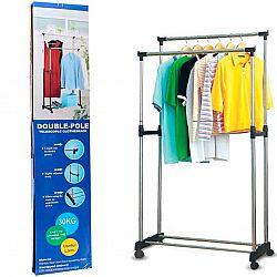 Вешалка для одежды двойная до 30кг DOUBLE BIG CLOTH RACK(160*78*42см) ART-0017
