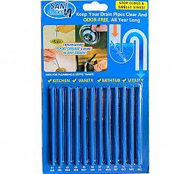 Дренажные палочки для очистки раковин и канализации  на планшете