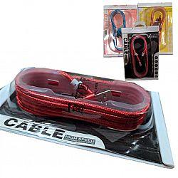 USB-шнур/зарядный кабель, тканевая обмотка, на планшете