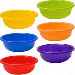 Миска пластик 1,5л цветная