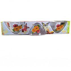 Набор подар.салатников 3пр.(3*130мм) Яркие цветы